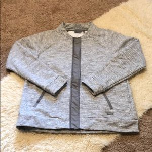 Athleta gray zip up sweatshirt size medium